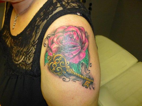 cover avec rose et clef fini