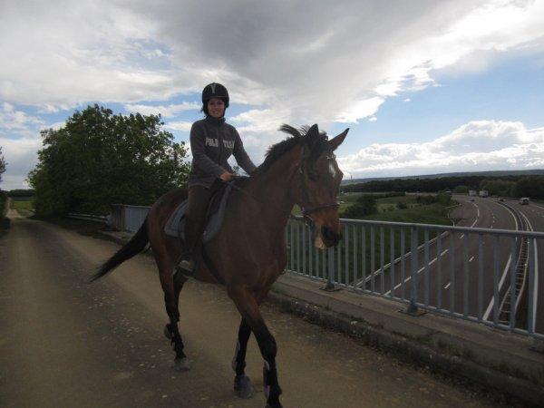 balade avec mon cheval