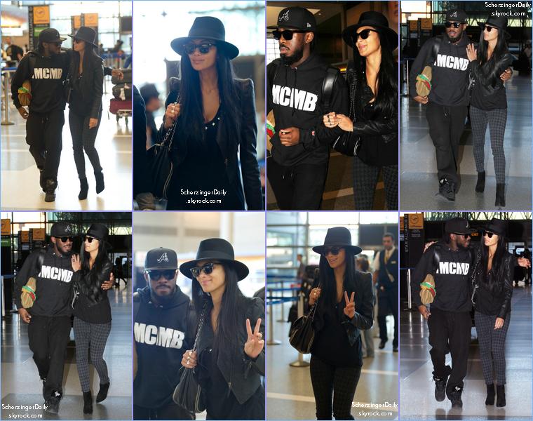 -- Jeudi 26 Janvier 2012 : Nicole est enfin de sorti et a été vue à l'aéroport LAX de Los angeles avec le chorégraphe JaQuel Chevalier.. --