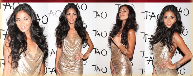 -- Samedi 23 Juin 2012 : Nicole Scherzinger est allée fêter son anniversaire, avec quelques jours d'avance, au célèbre club Tao à Las Vegas.  Pour célébrer ses trente-trois ans Nicole était habillé tout de doré et portait une robe Haute Hippie accompagné d'escarpins Zanotti et de nombreux bijoux   ; Top! --