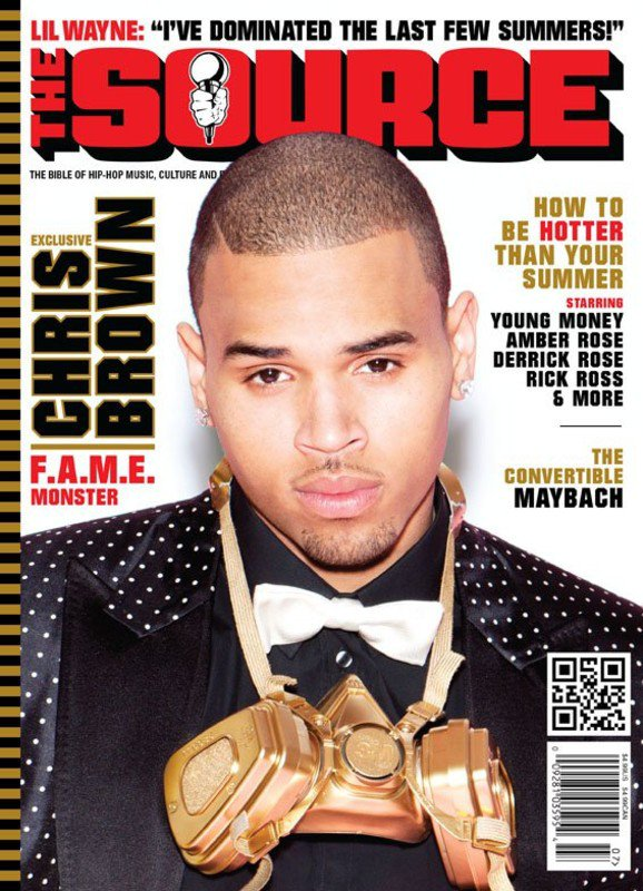 """09/06/11: Chris Brown sur la nouvelle couverture du magazine """"The Source"""", édition Juin/Juillet."""
