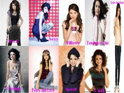 Les différents style de Selena
