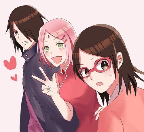 La jolie petite famille Uchiwa....J'adore cette image : elle est trop cute <3