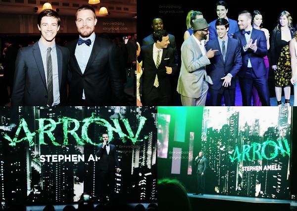 15/05/14 ─ Le cast de Arrow était comme chaque année aux « CW Network's 2014 Upfront » à New-York.