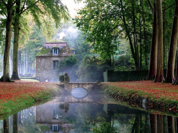 Superbe journée d'automne : Courances