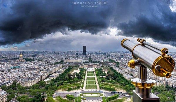 Vue sur Paris depuis la tour Eiffel !