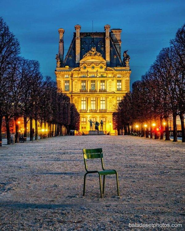 Le jardin des Tuileries dès potron-minet !!!