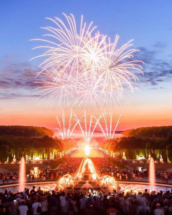 Versailles : les grandes eaux et le feu d'artifice !!!