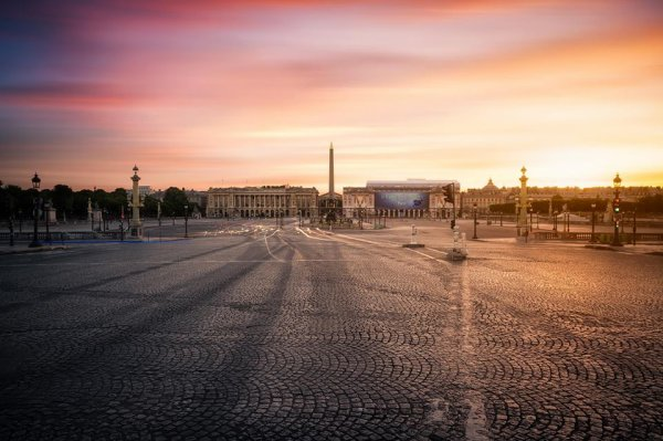 Place de la concorde à Paris mais comme on la voit rarement !