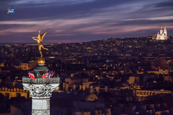 Il fait nuit mais à la Bastille l'ange veille !!!