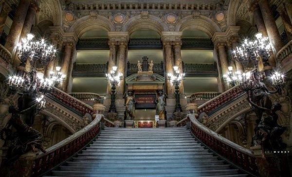 Paris : L'Opéra Garnier le grand escalier !