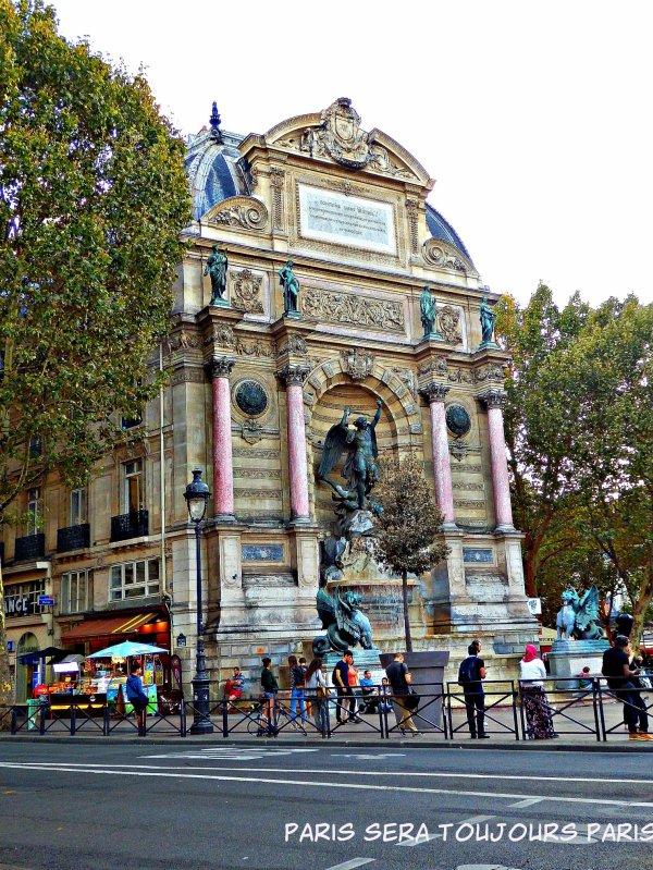 Paris que l'on aime : Place et Fontaine Saint-Michel !!!
