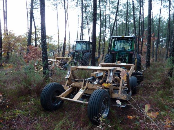 John deere 7710 equipé forestier