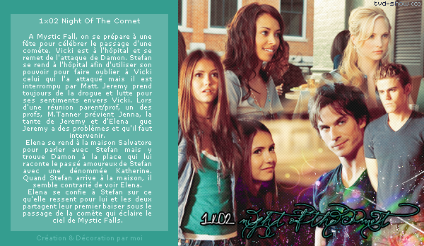 *FanBlog on The Vampire Diaries* ___-_- __'_ _ 1x02 Night Of The Comet __'_____ __'____________________  *Version 2*  NEWSLETTER