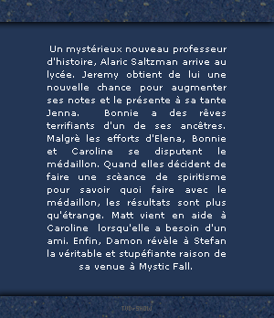 *FanBlog on The Vampire Diaries* ___ ____'_'_ _ 1x09 History Repeating _-_-_-_-_-_________ _____________  *Version 2*  NEWSLETTER