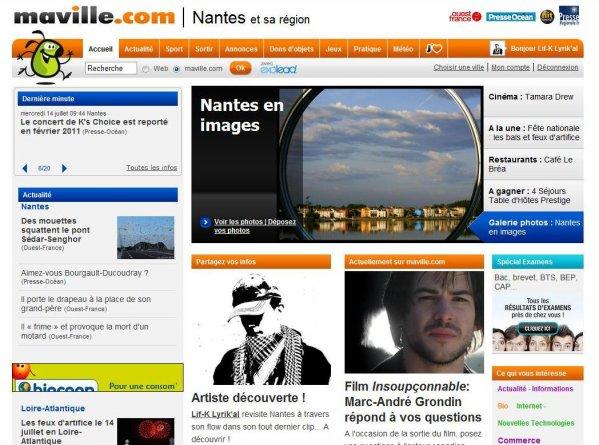"""Lif-K en UNE de """"Nantes.maville.com"""""""
