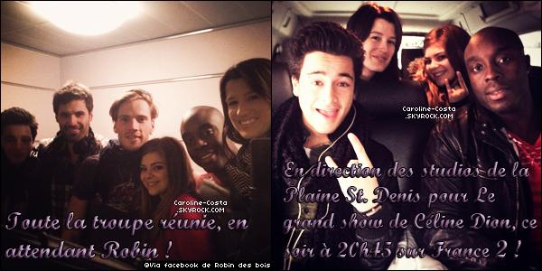 24 novembre : Nouvelles photos de Caro' en compagnie du casting de Robin Des Bois.
