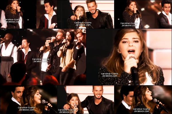 """Le 24 novembre, la troupe de Robin des Bois était au """"Grand Show"""" de Céline Dion sur France 2."""