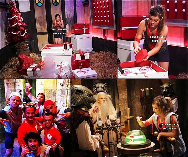 16 décembre : Caroline dans l'émission de Fort Boyard (Spécial Noël) qui serat diffusée le 22/12.