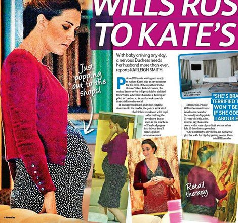 Photos & Scans de magazine de Kate enceinte !