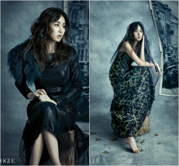 """사진   L'actrice Kang Sora pour le magasine """"Vogue Korea"""", Décembre   강소라"""