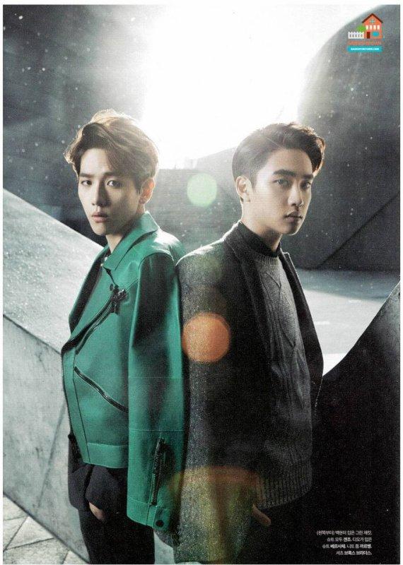 사진  Le groupe EXO pose pour  'The Celebrity' (Janvier 2015) (scans) part 1  엑소