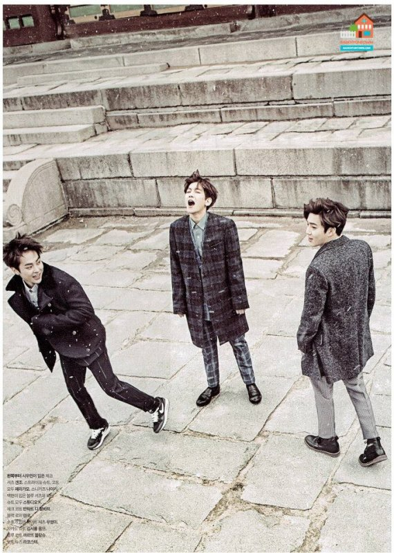 사진  Le groupe EXO pose pour  'The Celebrity' (Janvier 2015) (scans) part 1  엑소