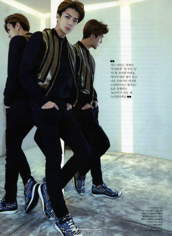 사진   Le groupe EXO pose pour  'The Celebrity' (Janvier 2015) (scans) part 2  엑소