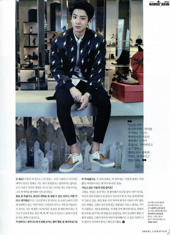 사진   Le groupe EXO pose pour  'The Celebrety' (Janvier 2015) (scans) part 4  엑소