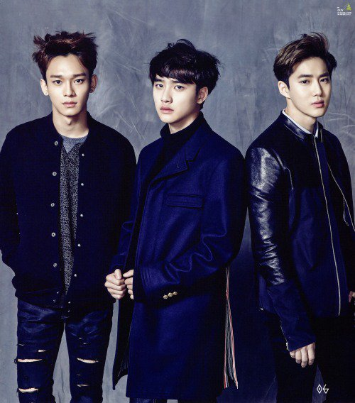 사진   Le groupe EXO, pose pour 'Seasons greeting 2015'    엑소