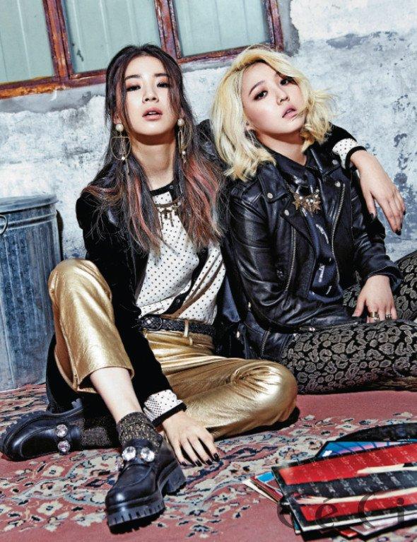 """사진     Min du groupe Miss A et Kim Irene posent pour le magasine """"Céci""""   이민영 & 아이린"""