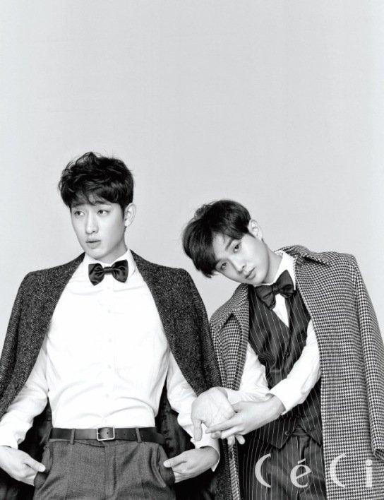 사진   Les acteurs   Choi Woo Shik   et  Yoon Park posent pour  Céci  (Novembre 2014)   최우식 & 윤박