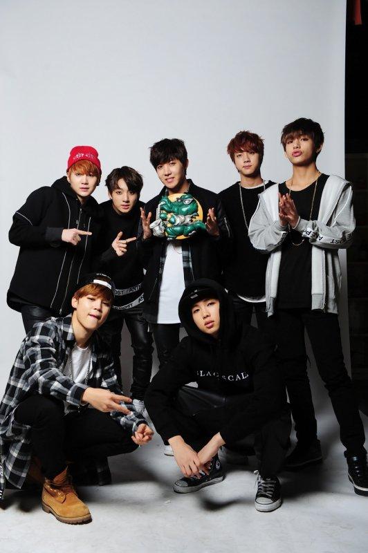 사진   Le groupe BTS  pour   Cool Music Zzang