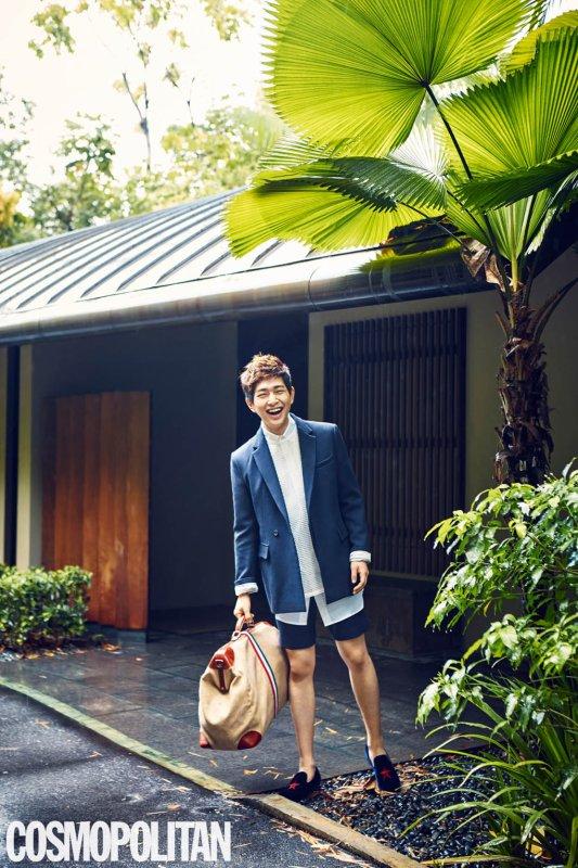 """사진  Lee Jinki (Onew)   (membre de SHINee) & Park Jung Su (Lee Teuk)  (membre & leader de Super Junior )pour """"  Cosmopolitan""""  온유 &  박정수"""
