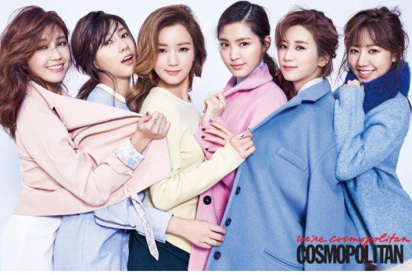 """사진   Le groupe APink pour le magazine """"Cosmopolitan"""" (Février 2015)  에 이핑크"""