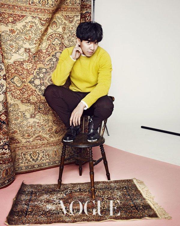 사진  L'acteur  Lee Seunggi   pose pour  Vogue Janvier (2015)  Une demande de Seomi  이승기