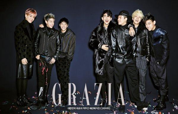 사진   Le groupe GOT7 pour   Grazia  (Décembre 2014)   Une demande de JackYeom-Got7    갓세븐