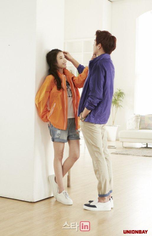 """사진   La chanteuse IU (Lee Ji Eun) et  l'acteur   Lee Hyun Woo  pour """"UnionBay"""""""