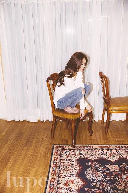 """사진   La chanteuse G.NA ( Choi Ji Na)pour le magazine""""Lupe""""   최지나 [/align=center]"""