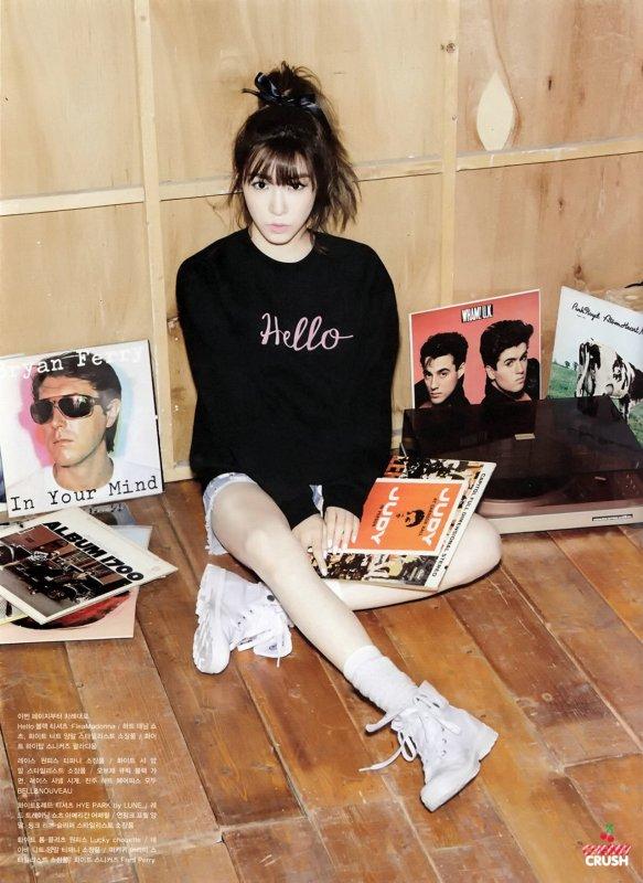 """사진   Tiffany (membre de Girls Generation) pose pour le magasine """" Oh Boy !""""  티파니"""
