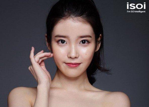 """사진   La chanteuse  IU  pour la marque de cosmétique """"ISOI""""  아이유"""