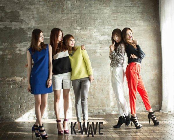 사진 [/align ] Le groupe EXID, pose pour le magazine Kwave'