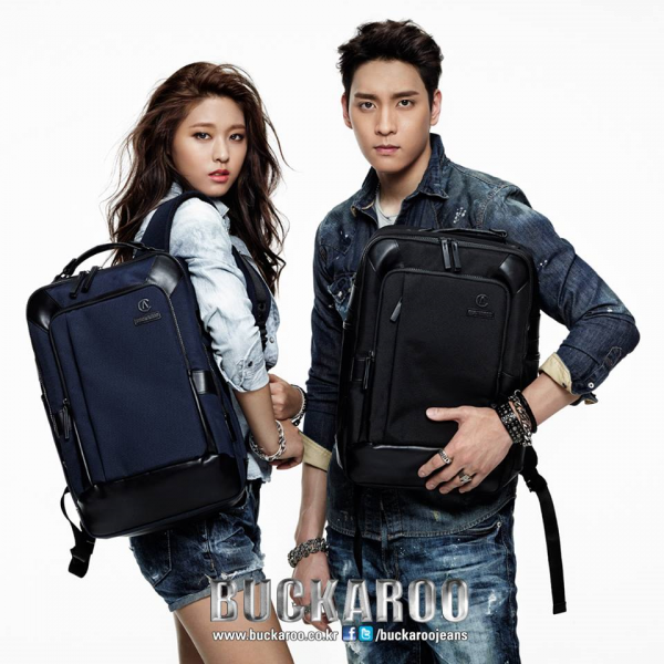 사진  La membre Seolhyun  du groupe AoA et l'acteur   Choi Tae Joon pour Buckaroo  - printemps 2015