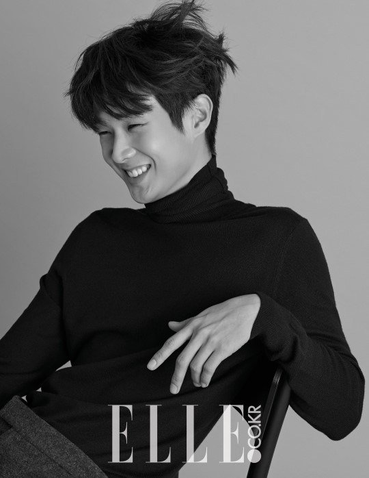 사진   L'acteur  Choi Woo Shik   pose pour   ELLE, Février 2015       최우식
