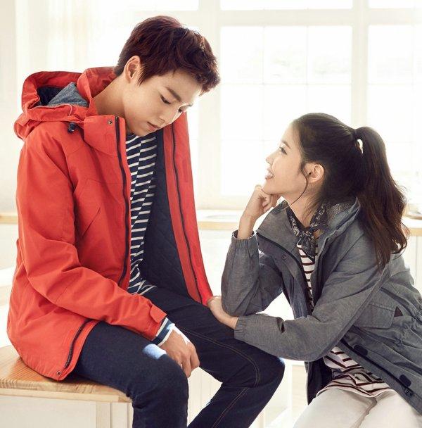 "사진    D'autres photos de la chanteuse IU (Lee Ji Eun) et  l'acteur   Lee Hyun Woo  pour ""UnionBay"""