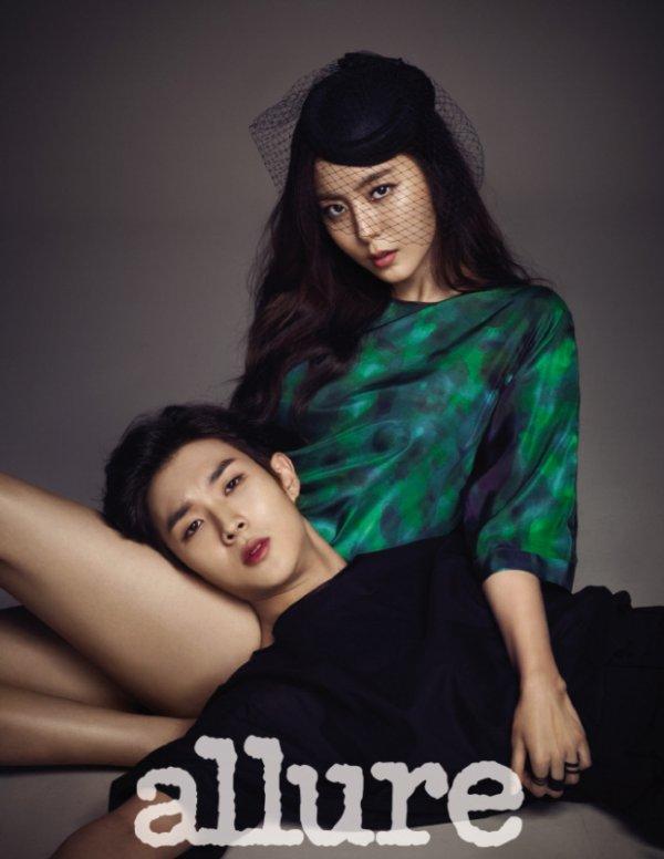 사진   L'acteur   Choi Woo Shik   et  UEE (After school)posent pour  Allure