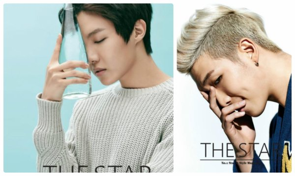 사진   Le groupe BTS  pour   The Star , mars 2015
