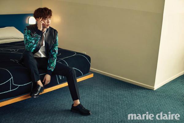 사진  L'acteur  Lee Jong Suk    pour  Marie Claire, mars 2015    이종석