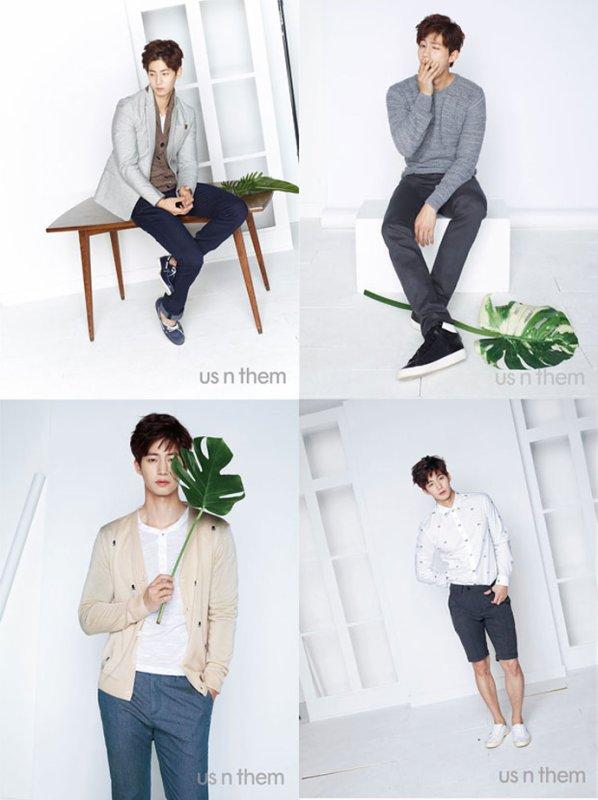 """사진     L'acteur -mannequin  Song Jae rim  et la mannequin  Go So Hyun  pour """"Us n them -  2015""""    송재림"""