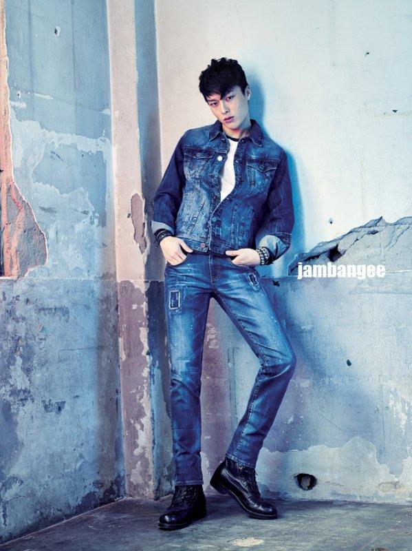 """사진     L'acteur -mannequin  Jang Ki Yong  et la mannequin  Lee Ho Jung  pour """" Jambangee -  2015""""    장기용 & 이호정"""
